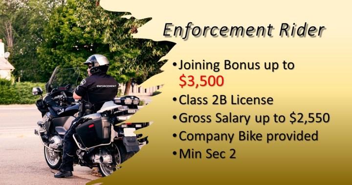 Enforcement Rider - Bonus $3.5k