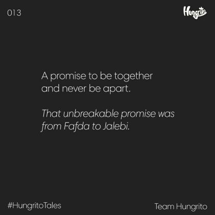 A promise to be together and never be apart