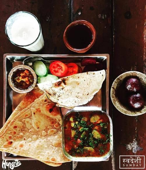 Gujarati Thali, Vishalla Restaurant