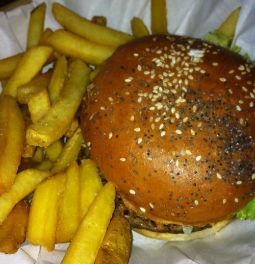 The 'Hell Fire Hippy' Burger