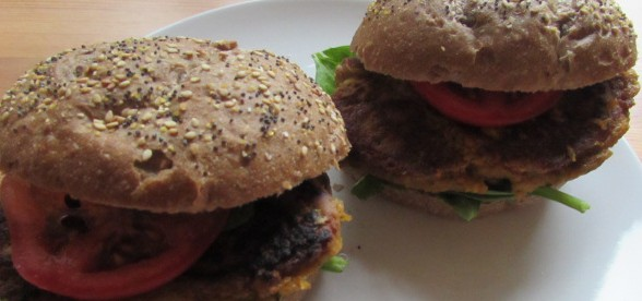 Homemade vegan burgers