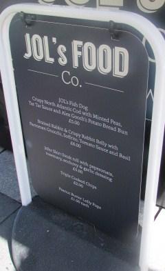 Jols Food Co menu – posh!