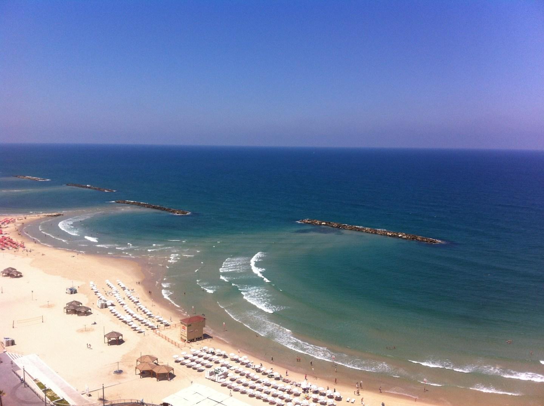 The beach in Tel Aviv