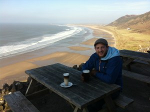 The view from the Worms Head Hotel beer garden