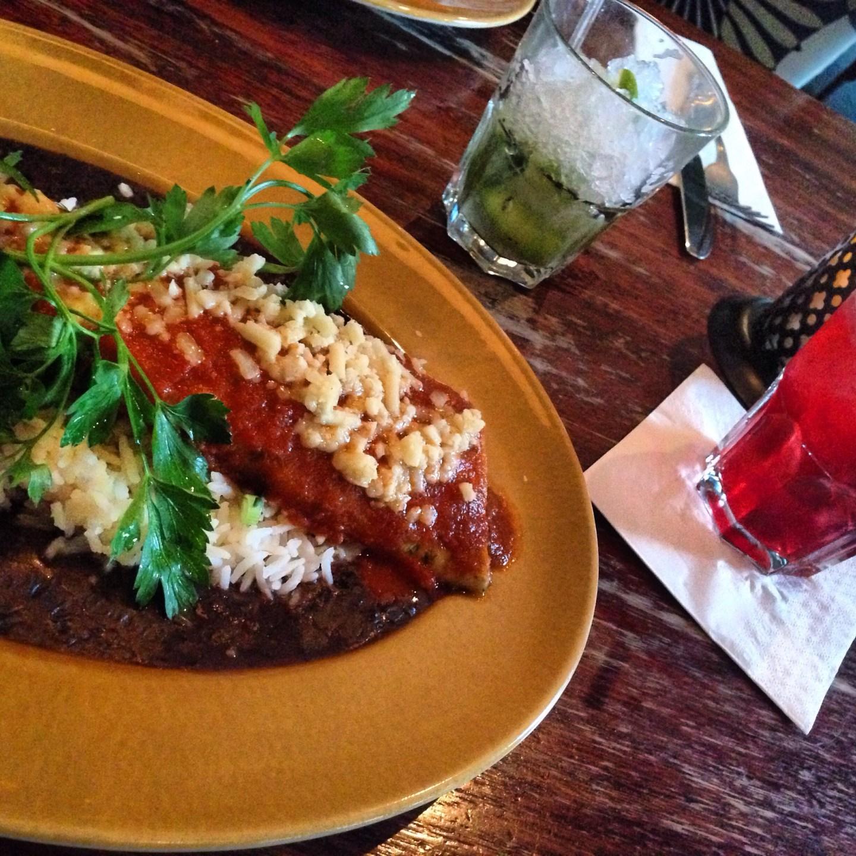 Mushroom enchilada: who needs the meat?