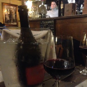lambrusco in an ice bucket
