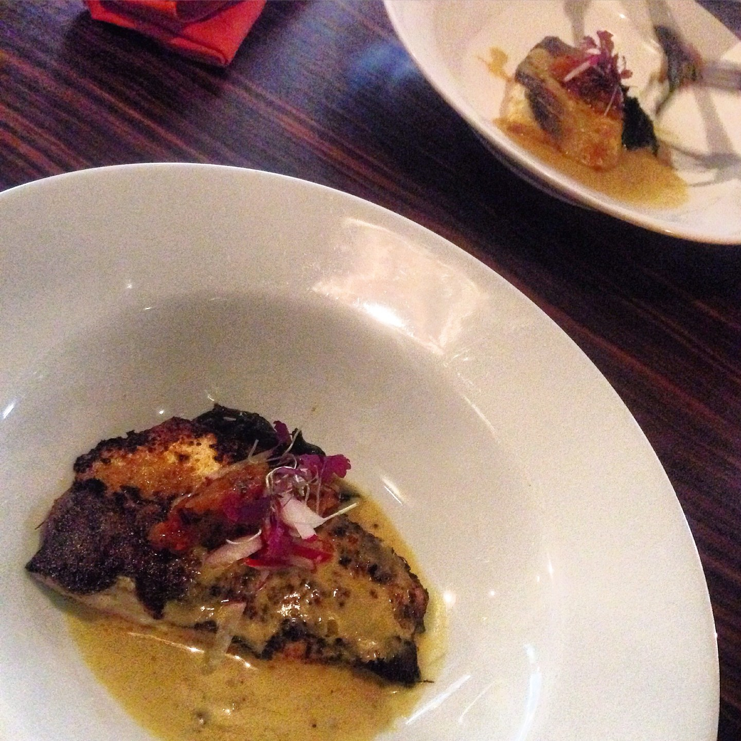 Indian spiced seabass