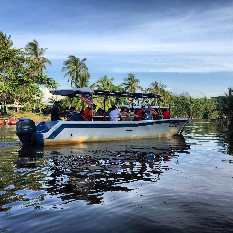 River boat cruise in Borneo