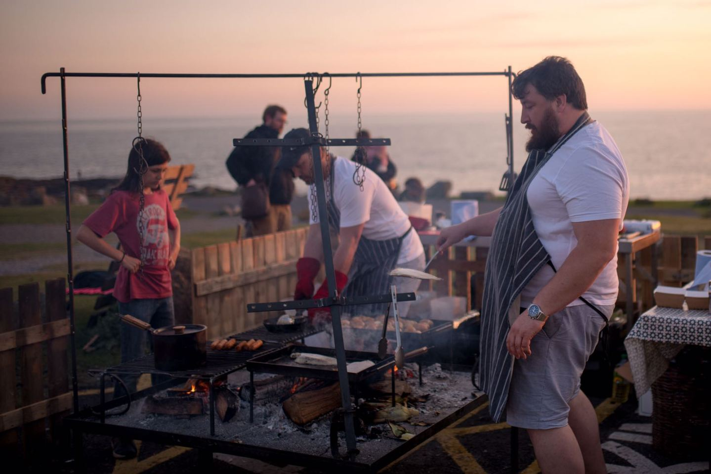 Eat freshly cooked seafood on Ogmore beach with 'The Two Anchors'