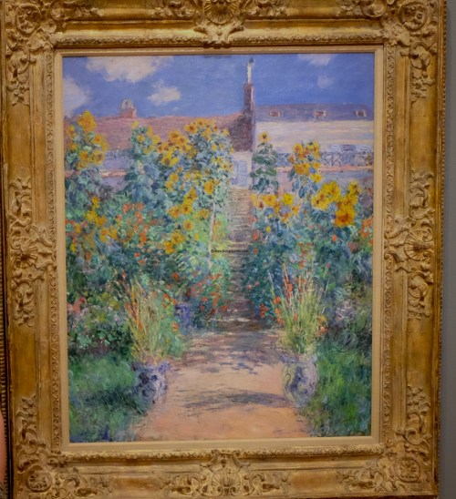 Claude Monet. The Artist's Garden at Vetheuil. 1881.