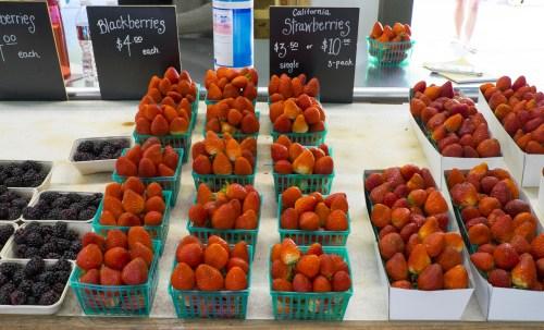 Fresh picked strawberries.