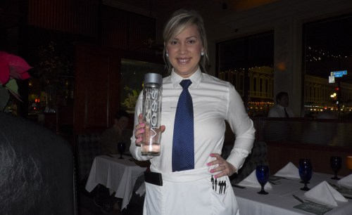 Abby kept the Voss flowing all night long!