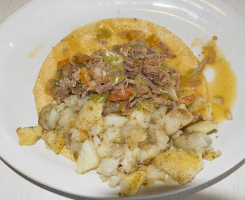 Beef potato taco by Soo.