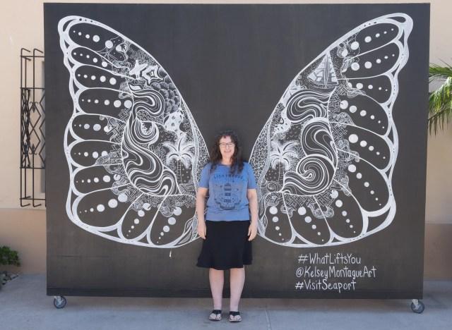Butterfly wings outside.