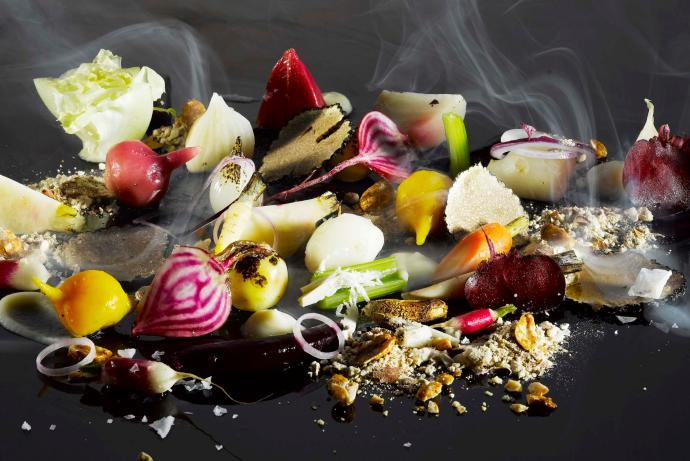 "Handout photo of a ""Burnt Field"" of fragrances and texture of smoked vegetables"