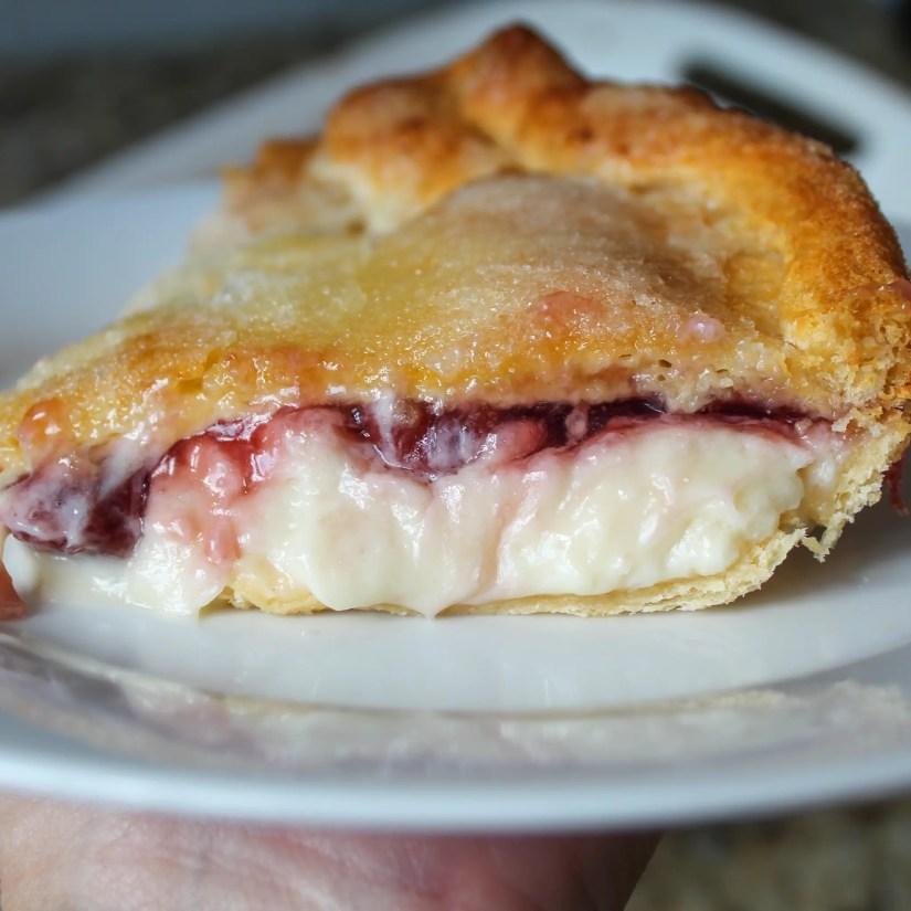 Cherry Crescent Cheesecake