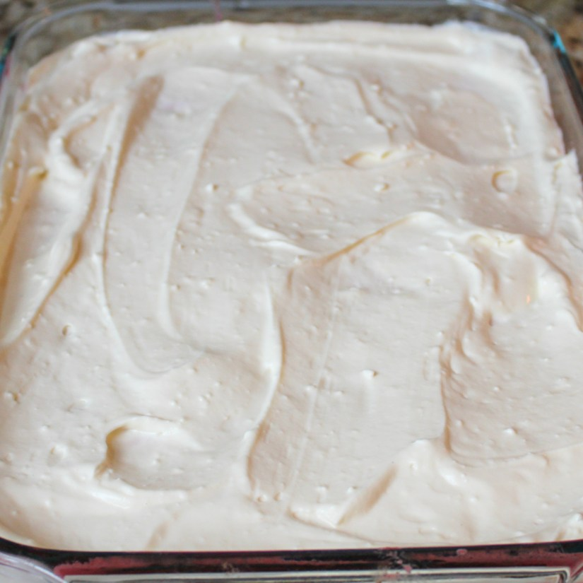 Strawberry Cream Poke Cake