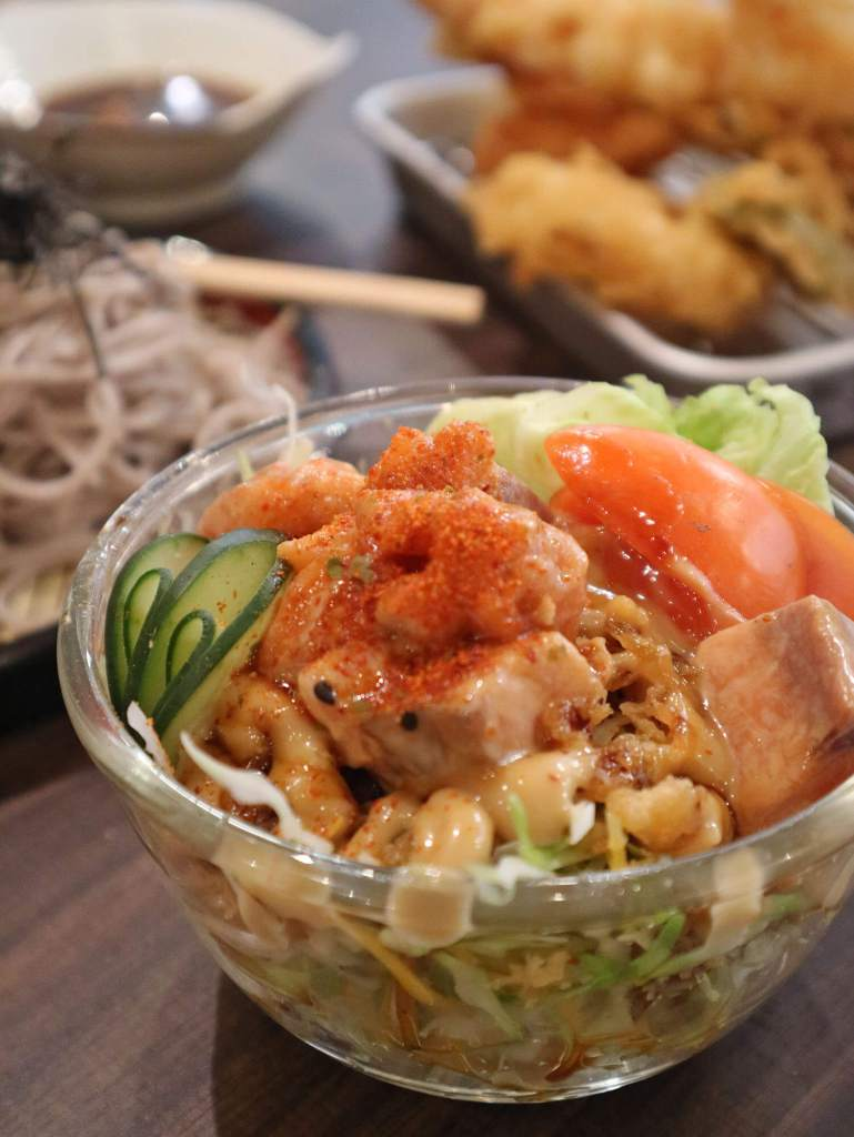 Asakusa House of Tempura Salmon Salad