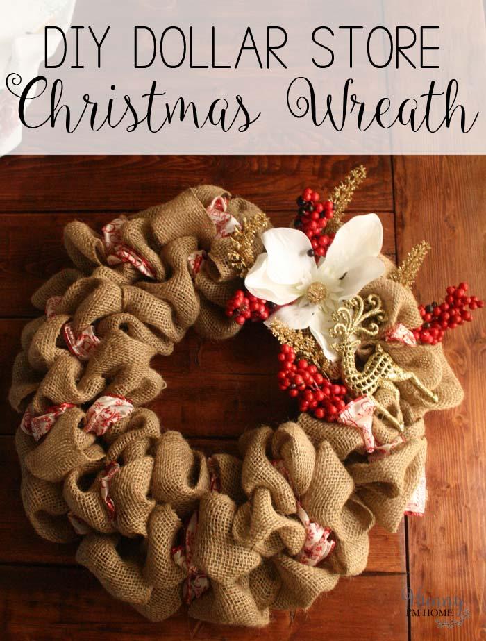 diy christmas wreath diy burlap wreath dollar store wreath dollar store christmas wreath - Diy Christmas Wreath