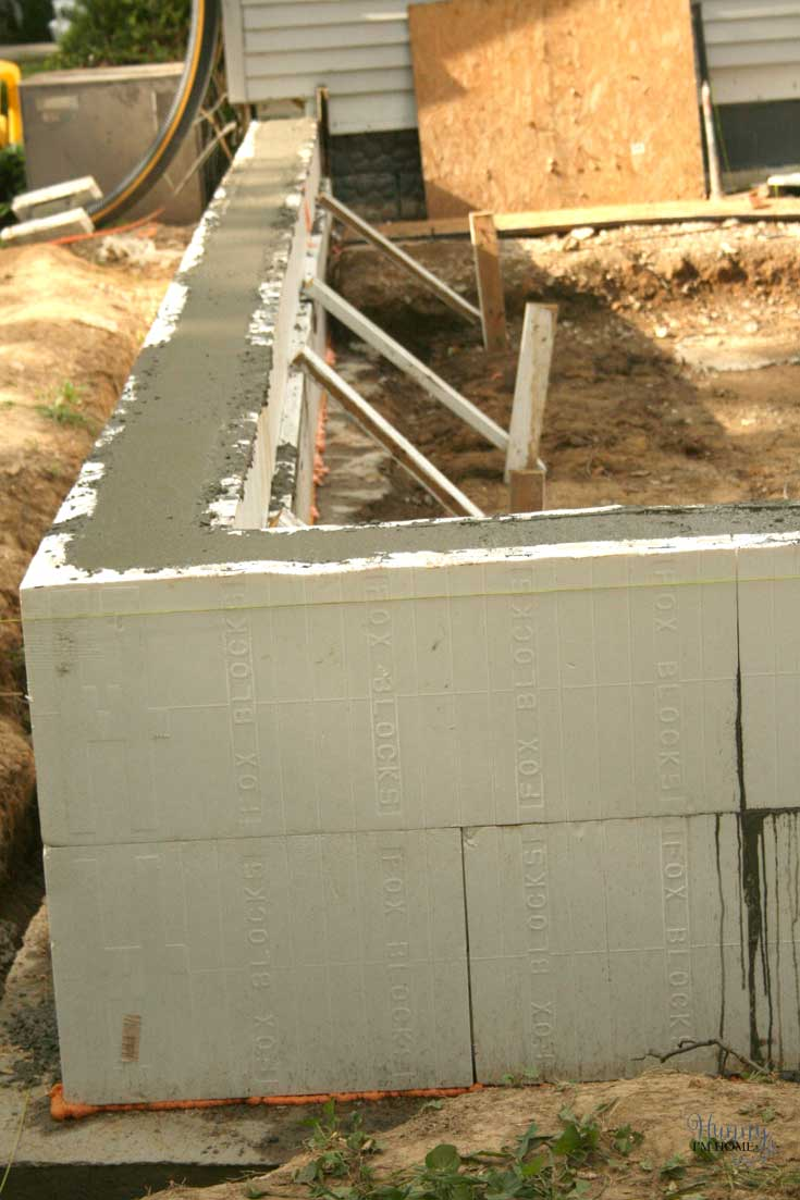 How to construct a fox blocks foundation hunny im home diy after the concrete was poured we leveled it off using a two by four the same way we did with the footings and allowed the concrete to cure for a few days solutioingenieria Gallery