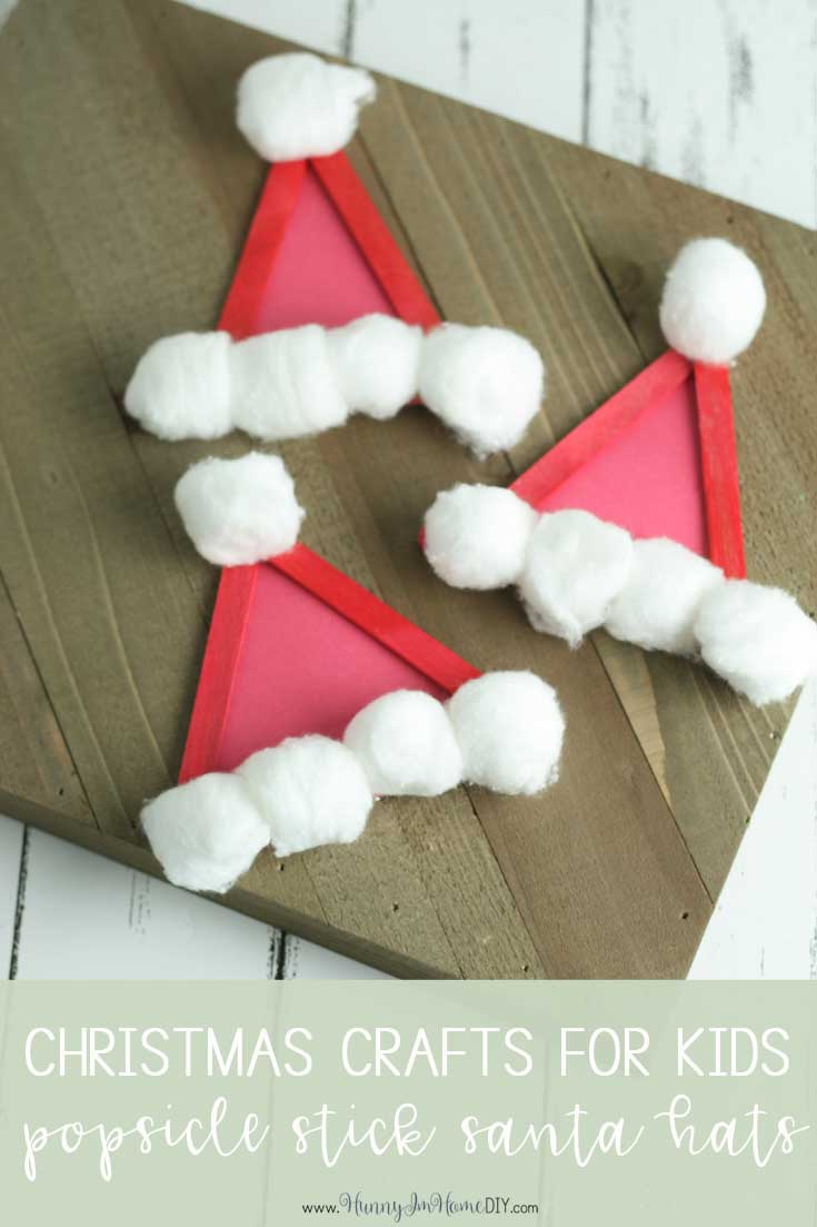 this adorable santa hat craft is the perfect christmas craft for kids from hunny i