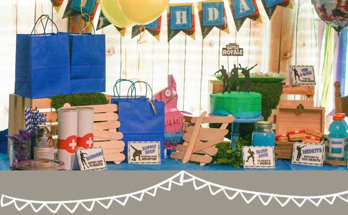 How to Throw an Awesome Fortnite Birthday Party | Hunny I ...