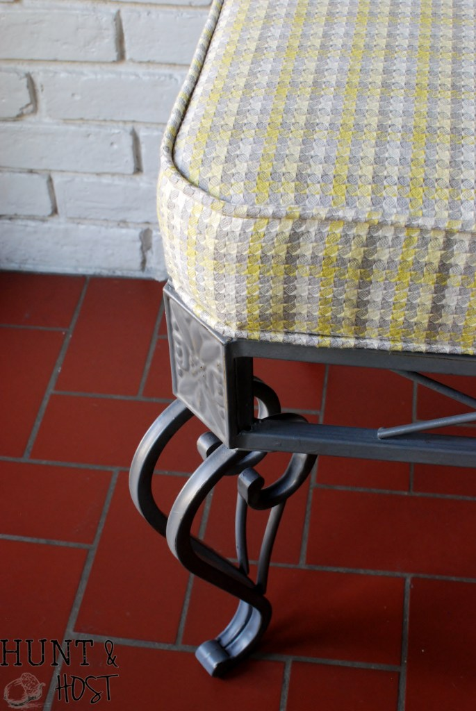 table to bench upcycle