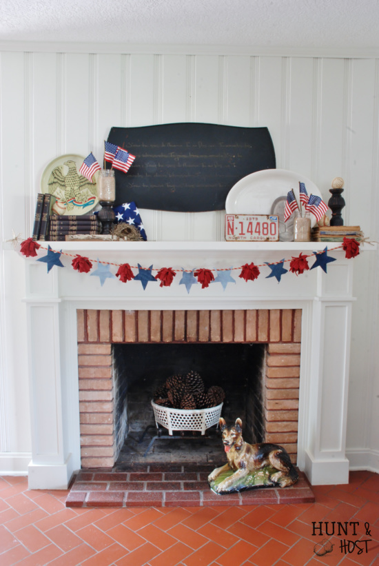 July 4th mantle diy
