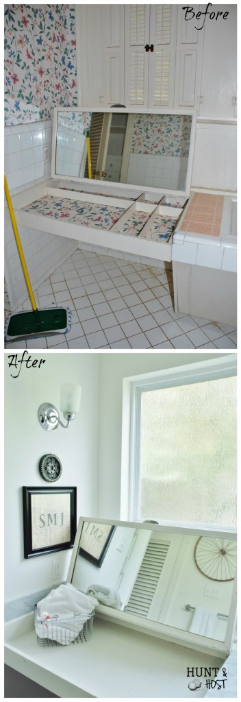 boys bathroom before and after