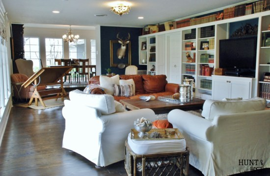 Hunt & Host Home Tour: Living Room, Big Space to Cozy Abode