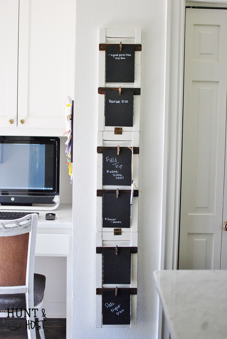 repurpose old shutters - Shutter To Do Board - huntandhost.net