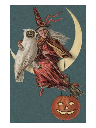 alexandra-day-halloween-postcard-with-witch-and-owl-sitting-in-crescent-moon