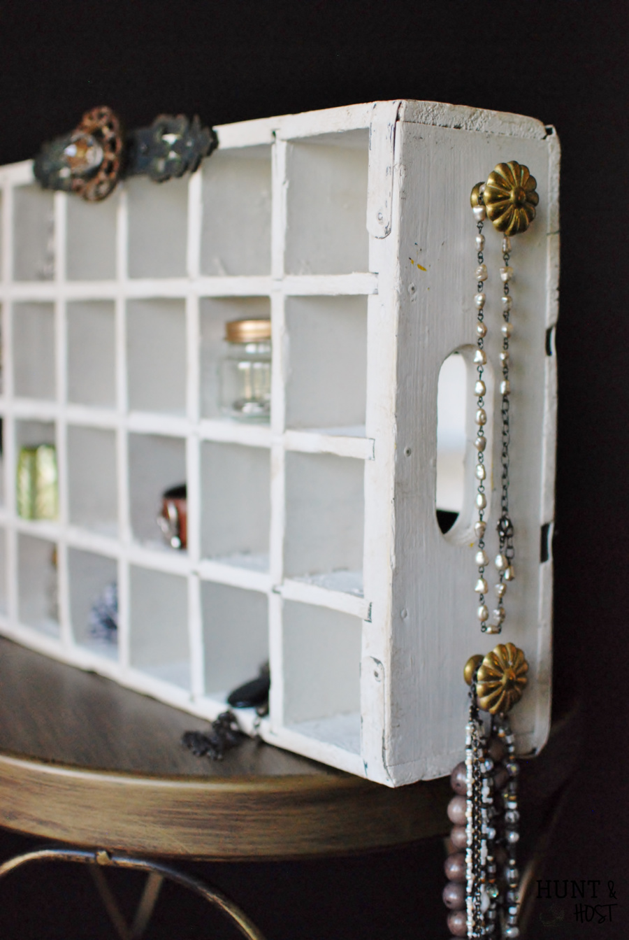 Soda Crate Jewelry Organizer Hunt and Host