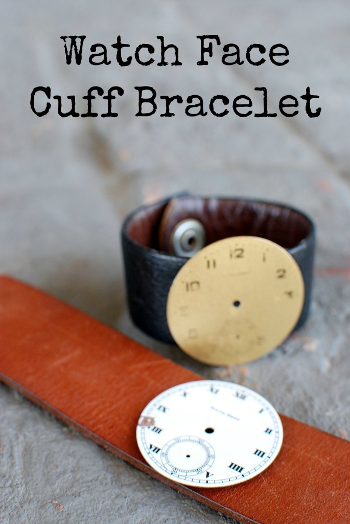 Watch Face Cuff Bracelet tutorial with a note about God's timing. 1 Corinthians 3:7 www.huntandhost.net