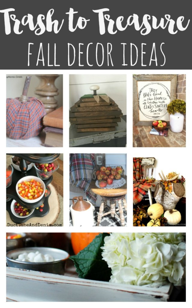 An old school flatware storage box gets a cozy makeover for Fall. Now it's the perfect hot chocolate station! Stacked wood pumpkins, Plaid shirt projects and more for fall!