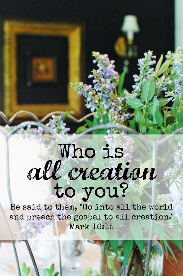 """He said to them, """"Go into all the world and preach the gospel to all creation."""" Mark 16:15. Who is all creation to you? A yucky confession from Hunt & Host."""