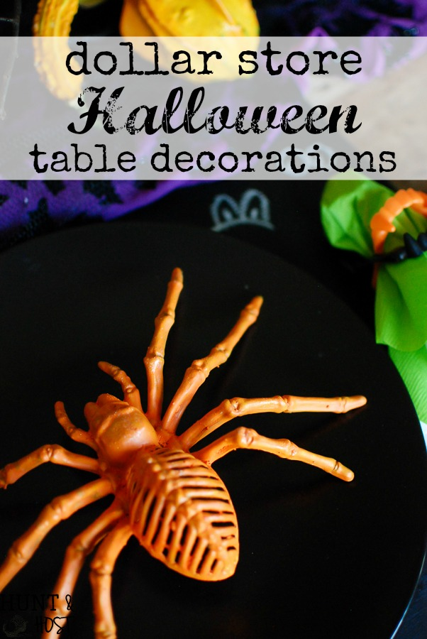 dollar store crafts turn into a spooky fun halloween table setting check out these easy - Halloween Table Decoration