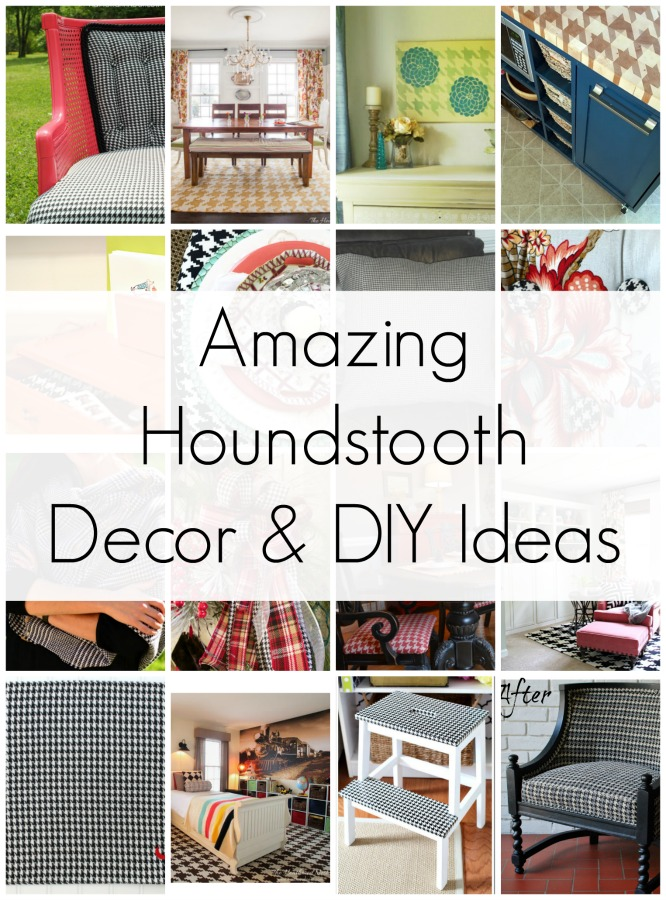 A Round Up Of Houndstooth Decor And Houndstooth DIY Ideas! Because  Houndstooth Is My Favorite