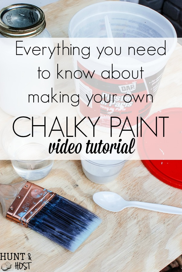 Everything you need to know about making your own chalky paint: video tutorial!