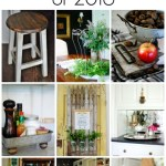 The top 10 DIY décor projects of 2016 including a farmhouse tray, aged barnwood, vintage makeovers, picket fence projects, damask mirror tutorial and many more!