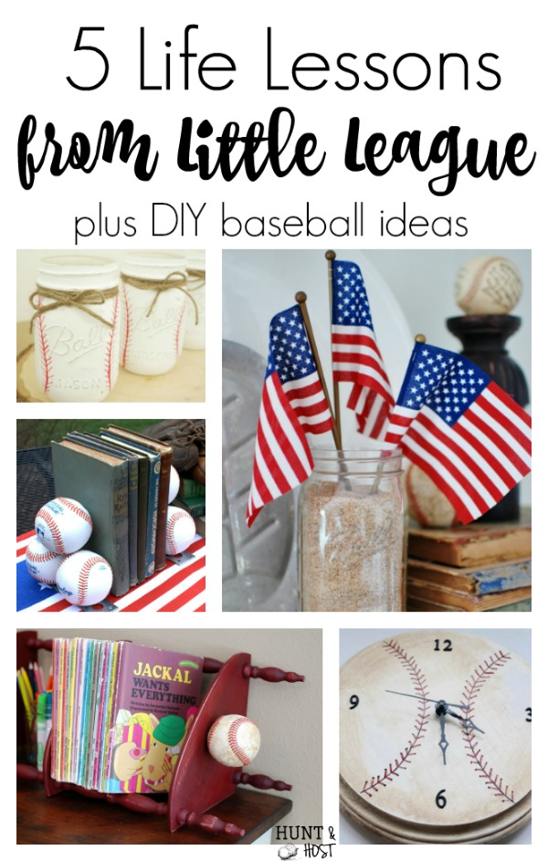 5 LIfe lessons from little league baseball plus DIY baseball decor ideas!