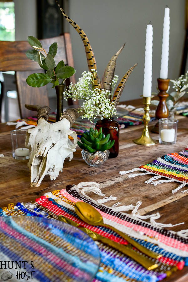 Boho Table Setting: Dollar Store Decorating for Fall ...