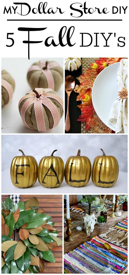Dollar Store DIY Ideas for fall! Table settings, decor items and more fall decorating accents.