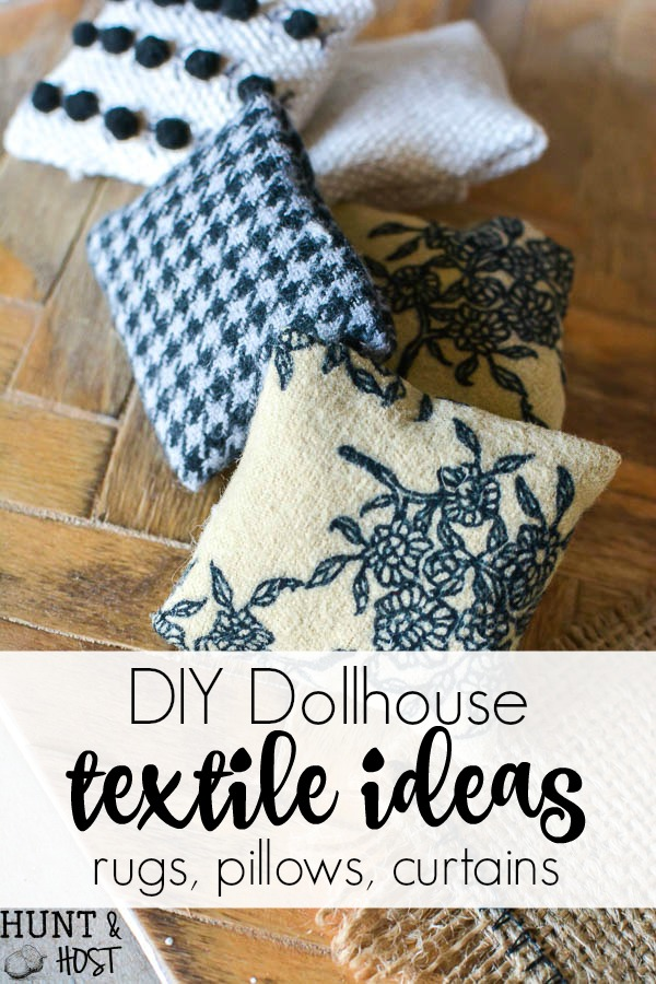 Diy textile additions dollhouse one room makeover week 3 hunt diy textiles for the dollhouse diy dollhouse textile ideas cute dollhouse rugs simple dollhouse pillow ideas and cute little solutioingenieria Images
