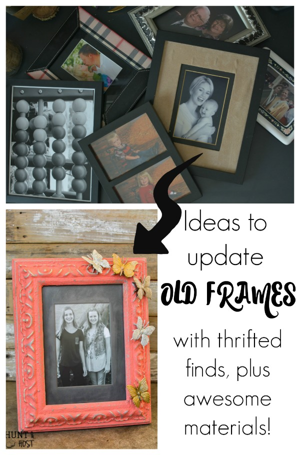 3 ideas to update old picture frames hunt and host for Old picture frame projects