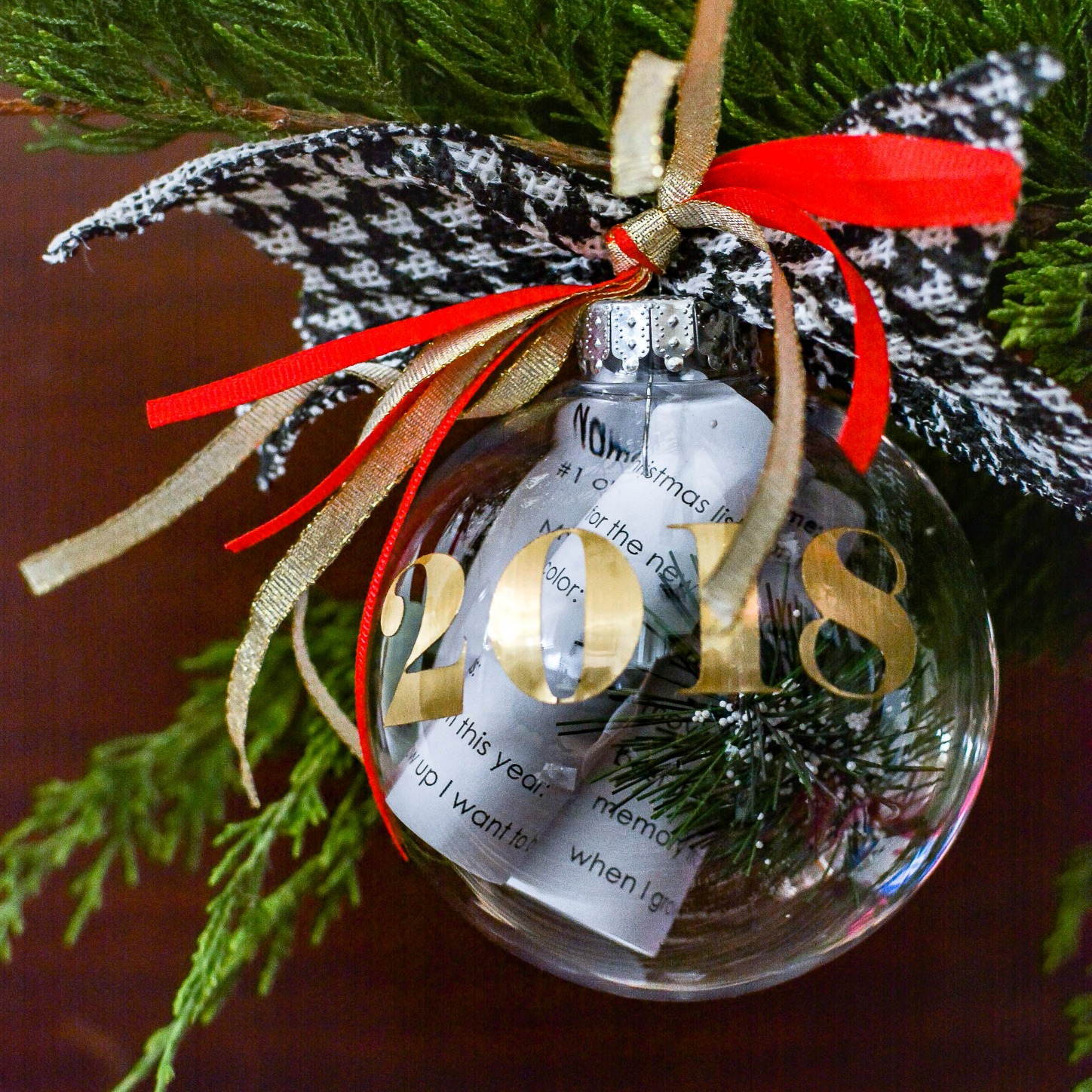 Family Christmas Memories Stored In A Handmade Time Capsule Ornament With A Free Printable To Start