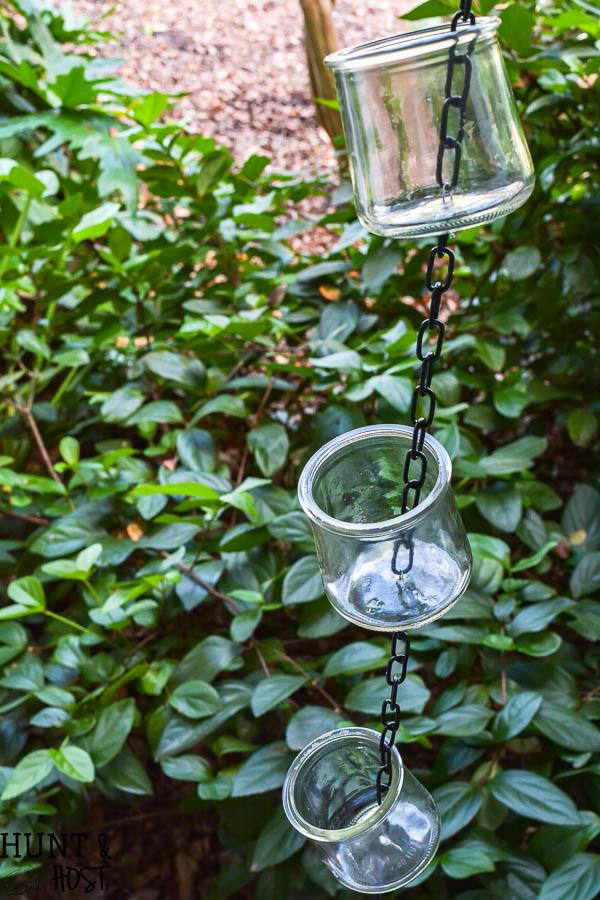 DIY Rain Chain Tutorial: Oui Yogurt Jar Craft - Hunt and Host