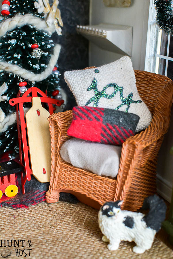 christmas dollhouse decorating ideas festive food holiday pillows handmade ornaments and a gorgeous