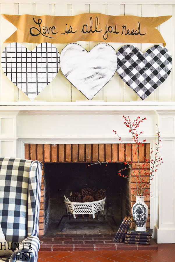 Black And White Buffalo Plaid Banner