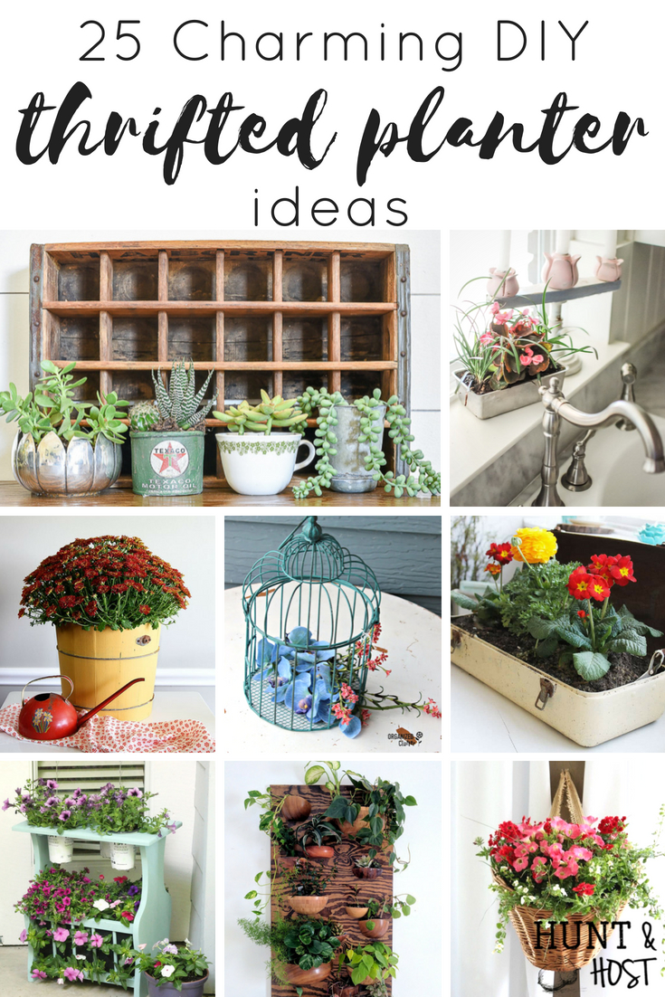 Browse through these charming thrifted planter ideas to add some unique whimsy to your house plant ideas. They are perfect for house plants on a budget! #houseplants #charming #thriftedplanter #houseplant #plantlady